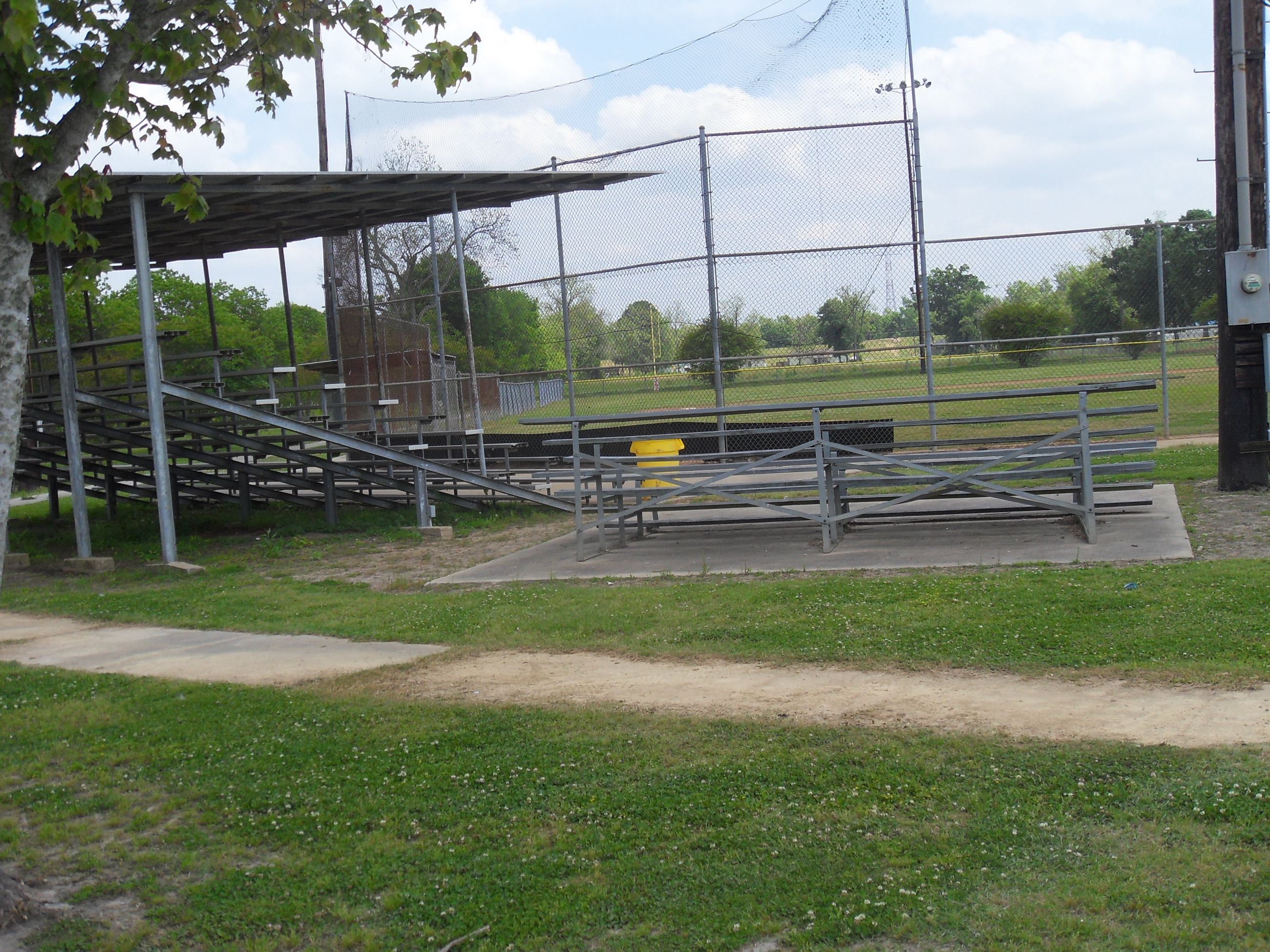 Bleachers at baseball field