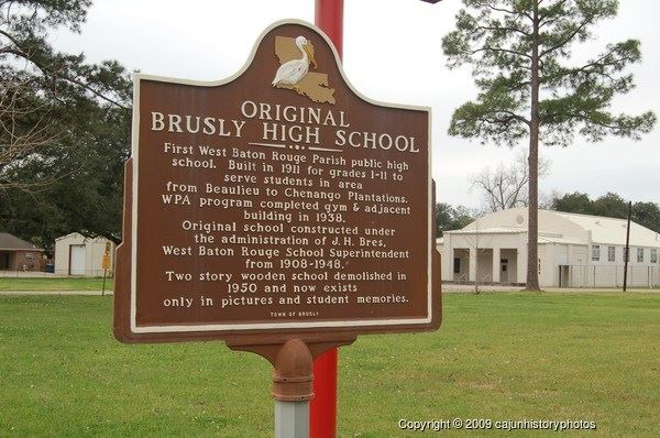 Original Brusly High School  Historical Marker