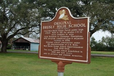 Original Brusly High School Marker